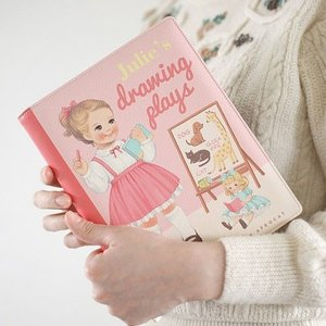 [韓国雑貨]=paper doll mate= 乙女なアナタの Book Clutch. M[韓国 お土産][可愛い][かわいい][文房具][文具]|seoul4