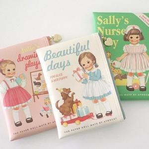 [韓国雑貨]=paper doll mate= 乙女なアナタのbook pouch. S[韓国 お土産][可愛い][かわいい][文房具][文具]|seoul4