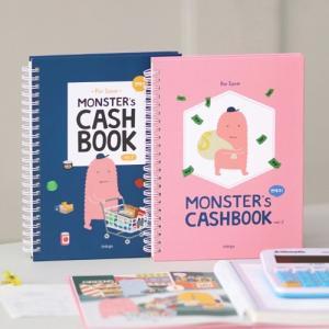 [韓国雑貨] お金の管理をしながらハングルのお勉強もできちゃう  MONSTER's CASH BOOK [輸入雑貨] [かわいい]|seoul4