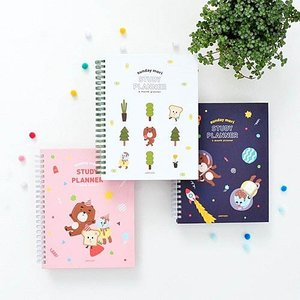 [韓国雑貨]=JAM STUDIO= 落書き帳の様に自由にファニー sunshine mori study planner[スタディプランナー][韓国文房具][可愛い][かわいい]|seoul4
