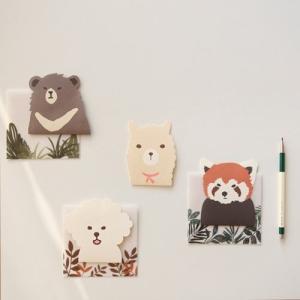 [韓国雑貨]草の陰からソッと覗く アニマルレターセット《選べる3つセット》|seoul4