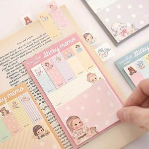 [韓国雑貨]=paper doll mate= Sticky memo《選べる3冊セット》[韓国 お土産][可愛い][かわいい][文房具][文具]|seoul4
