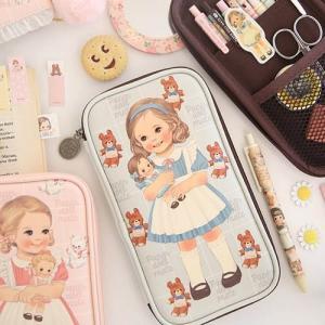 [韓国雑貨]=paper doll mate= Multi Pen Pouch 3 [韓国 お土産][可愛い][かわいい][文房具][文具]|seoul4