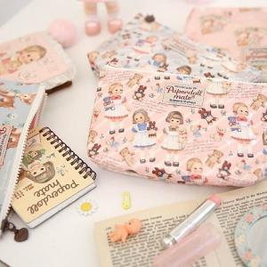[韓国雑貨]=paper doll mate= Oil-cloth pouch M_2《ポーチ》[韓国 お土産][可愛い][かわいい][文房具][文具]|seoul4|02