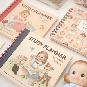 [韓国雑貨]=paper doll mate= study planner (6ヶ月)[スタディープランナー][スケジュール帳][手帳][通販][可愛い][かわいい][文房具][文具]|seoul4