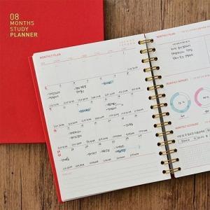 [韓国雑貨]ハード表紙に多数のグラフ 綿密なページ構成で本気なSTUDY PLANNER《8ヶ月用》[スタディプランナー][手帳][韓国文房具][可愛い]|seoul4|02