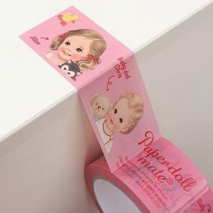 [韓国雑貨]=paper doll mate= 乙女なアナタの box tape《2本SET》[韓国 お土産][可愛い][かわいい][文房具][文具]|seoul4