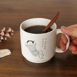 [韓国雑貨]-SSBA- アジャシとホッと一息… セラミックマグカップ[韓国 お土産][可愛い][かわいい][文房具][文具]|seoul4