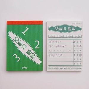[韓国雑貨]レトロなハングルのメモ帳(選べる3種セット)[お土産][可愛い][かわいい][文房具][メモ帳] seoul4 03
