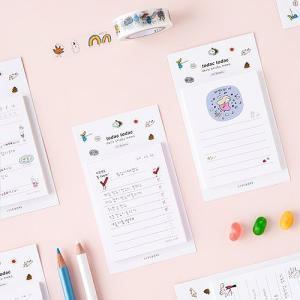 [韓国雑貨]落書きのような可愛さ todacデイリーメモリスト (選べる3つセット)[韓国文房具][可愛い][かわいい][韓国 お土産]|seoul4