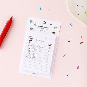 [韓国雑貨]落書きのような可愛さ todacデイリーメモリスト (選べる3つセット)[韓国文房具][可愛い][かわいい][韓国 お土産]|seoul4|03