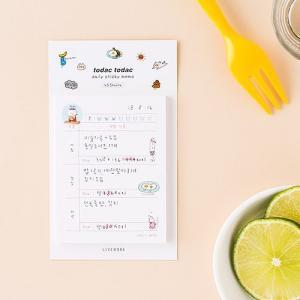 [韓国雑貨]落書きのような可愛さ todacデイリーメモリスト (選べる3つセット)[韓国文房具][可愛い][かわいい][韓国 お土産]|seoul4|04