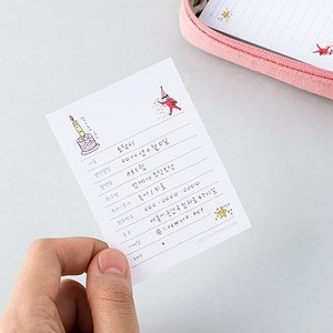 [韓国雑貨]落書きのような可愛さ todacデイリーメモリスト (選べる3つセット)[韓国文房具][可愛い][かわいい][韓国 お土産]|seoul4|05