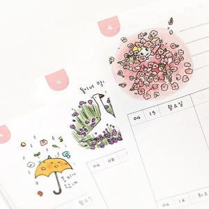 [韓国雑貨]落書きのような可愛さ todac todac weekly Diary《2019年韓国暦》[ダイアリー][韓国文房具][可愛い][かわいい]|seoul4|04