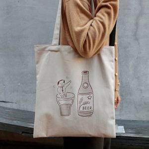 [韓国雑貨]-SSBA- オッサンがエンジョイ! アジャシのキャンパスバッグ[韓国 お土産][可愛い][かわいい][文房具][文具]|seoul4