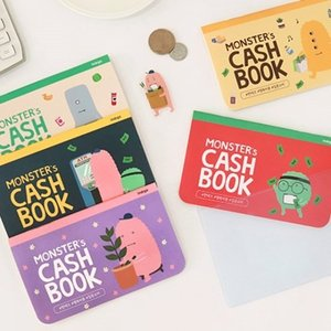 [韓国雑貨]お金の管理 & ハングルお勉強 MONSTER's CASH BOOK 通帳サイズ〈3冊セット〉[韓国 お土産][可愛い][かわいい]|seoul4