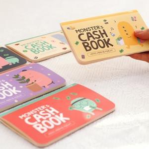 [韓国雑貨]お金の管理 & ハングルお勉強 MONSTER's CASH BOOK 通帳サイズ〈3冊セット〉[韓国 お土産][可愛い][かわいい]|seoul4|02