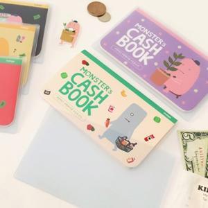 [韓国雑貨]お金の管理 & ハングルお勉強 MONSTER's CASH BOOK 通帳サイズ〈3冊セット〉[韓国 お土産][可愛い][かわいい]|seoul4|05