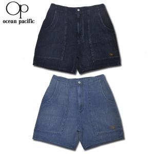 【2 COLOR】OCEAN PACIFIC(オーシャンパシフィック)【MADE IN JAPAN】 WAFFLE SHORT PANTS(日本製 ワッフル ショートパンツ) INDIGO(インディゴ染め)|septis
