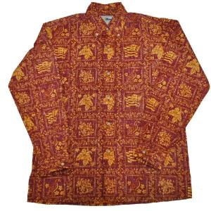REYN SPOONER(レインスプーナー)【MADE IN HAWAII】L/S B/D F/O ALOHA SHIRTS(長袖フルオープン ハワイ製アロハシャツ) GRAD RED|septis