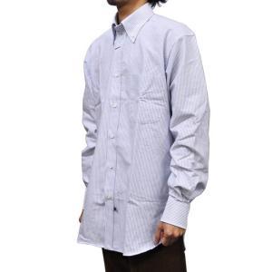 IKE BEHAR(アイク ベーハー)【MORI】クラシックフィット L/S B/D SHIRTS(長袖ボタンダウンシャツ) OXFORD(オックスフォード) CANDY STRIPE BLUE|septis