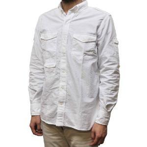 SEPTIS ORIGINAL(セプティズオリジナル) 長袖ボタンダウンシャツ ENGINEER SHIRTS(エンジニアシャツ) OXFORD(オックスフォード) WHITE septis