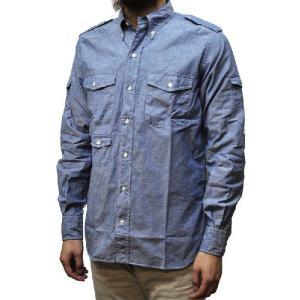 SEPTIS ORIGINAL(セプティズオリジナル) 長袖ボタンダウンシャツ ENGINEER SHIRTS(エンジニアシャツ) CHAMBRAY(シャンブレー) BLUE septis