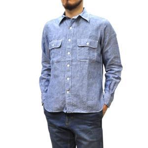 SEPTIS ORIGINAL(セプティズオリジナル) L/S WORK SHIRTS(長袖ワークシャツ) LINEN(リネン/麻) BLUE|septis