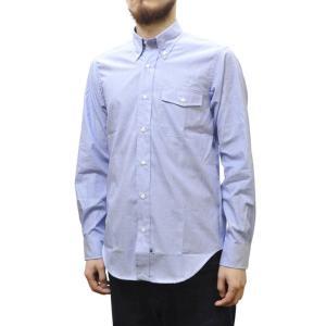 IKE BEHAR(アイク ベーハー)×SEPTIS(セプティズ) ダブルネーム L/S B/D SHIRTS(長袖ボタンダウンシャツ) END ON END(エンドオンエンド) BLUE|septis