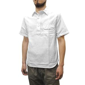 KEATON CHASE(キートンチェイス)×SEPTIS(セプティズ) ダブルネーム S/S PULLOVER WORK SHIRTS(半袖プルオーバーワークシャツ) OXFORD WHITE septis