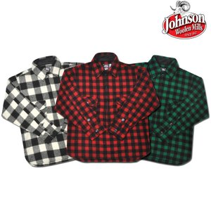 【3 COLOR】JOHNSON WOOLEN MILLS(ジョンソンウーレンミルズ)【MADE IN U.S.A】 L/S PULLOVER WOOL SHIRTS(アメリカ製 プルオーバー ウールシャツ)BUFFALO CHECK|septis