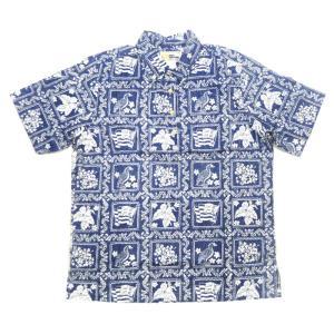 REYN SPOONER(レインスプーナー)【MADE IN HAWAII】 S/S B/D P/O ALOHA SHIRTS(ボーイズサイズ アロハシャツ) COTTON(コットン100%) LAHAINA SAILOR NAVY|septis