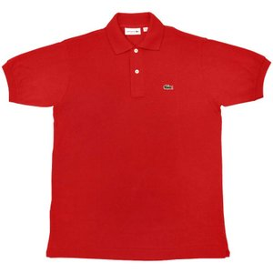 FRANCE LACOSTE(直輸入フランスラコステ) #L1212 S/S PIQUE POLOSHIRTS(半袖 鹿の子 ポロシャツ) ROUGE(RED)(240)|septis