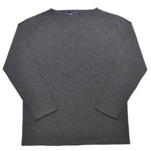 SAINT JAMES(セントジェームス) L/S BOATNECK BASQUE SHIRT(長袖ボートネックバスクシャツ) OUESSANT(ウエッソン) ACIER(CHARCOAL GRAY)|septis