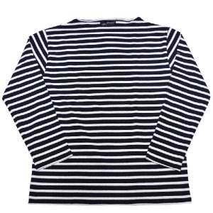 SAINT JAMES(セントジェームス) L/S BOATNECK BASQUE SHIRT(長袖ボートネックバスクシャツ) OUESSANT(ウエッソン) MARINE/NEIGE(NAVY/WHITE)|septis