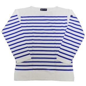 SAINT JAMES(セントジェームス) L/S BOATNECK SHIRTS(長袖ボートネックシャツ) NAVAL(ナヴァル) NEIGE/GITANE(WHITE/BLUE)|septis