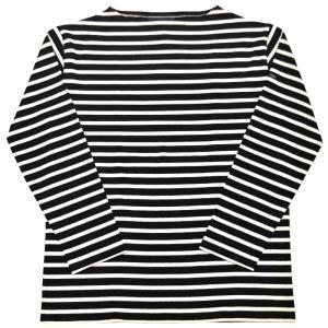 SAINT JAMES(セントジェームス) L/S BOATNECK BASQUE SHIRT(長袖ボートネックバスクシャツ) OUESSANT(ウエッソン) NOIR/ECRU(BLACK/NATURAL)|septis