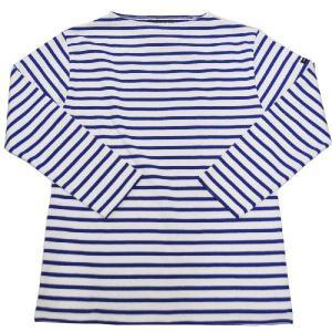 SAINT JAMES(セントジェームス) L/S BOATNECK BASQUE SHIRT(長袖ボートネックバスクシャツ) OUESSANT(ウエッソン) NEIGE/GITANE(WHITE/ROYAL BLUE)|septis