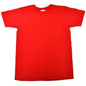 GOODWEAR(グッドウェア) S/S C/N POCKET T SHIRTS(半袖クルーネックポケットTシャツ) SHORT(ショート丈) CUSTOM FIT(カスタムフィット) RED septis