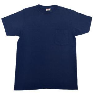GOODWEAR(グッドウェア) S/S C/N POCKET T SHIRTS(半袖クルーネックポケットTシャツ) CUSTOM FIT(カスタムフィット) NAVY septis