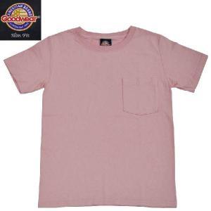 GOODWEAR(グッドウェア) SLIMFIT POCKET T SHIRTS(半袖クルーネック スリムフィットポケットTシャツ) PINK septis