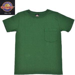 GOODWEAR(グッドウェア) SLIMFIT POCKET T SHIRTS(半袖クルーネック スリムフィットポケットTシャツ) GREEN septis