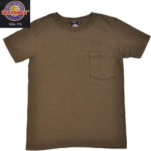 GOODWEAR(グッドウェア) SLIMFIT POCKET T SHIRTS(半袖クルーネック スリムフィットポケットTシャツ) BEIGE(BROWN) septis