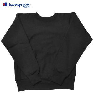 CHAMPION(チャンピオン)【MADE IN USA】L/S REVERSE WEAVE SWEAT SHIRTS(アメリカ製長袖リバースウィーブスウェットシャツ/トレーナー) SOLID BLACK|septis