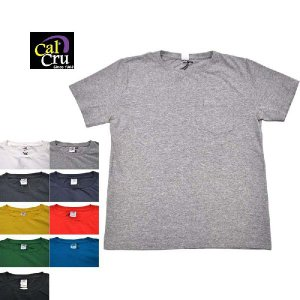 【9 COLOR】CAL CRU(カルクルー)【MADE IN U.S.A】CREW NECK POCKET TEE SHIRTS 5.5oz JERSEY(アメリカ製半袖クルーネックポケットTシャツ) SOLID(無地) septis