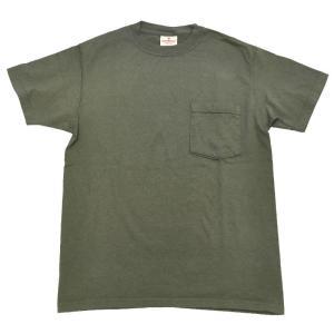 GOODWEAR(グッドウェア) S/S C/N POCKET T SHIRTS(半袖クルーネックポケットTシャツ) CUSTOM FIT(カスタムフィット) OD septis