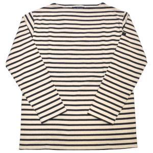 SAINT JAMES(セントジェームス) L/S BOATNECK BASQUE SHIRT(長袖ボートネックバスクシャツ) OUESSANT(ウエッソン) ECRU/ACIER(NATURAL/CHARCOAL)|septis