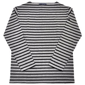 SAINT JAMES(セントジェームス) L/S BOATNECK BASQUE SHIRT(長袖ボートネックバスクシャツ) OUESSANT(ウエッソン) GRIS/NOIR(GREY/BLACK)|septis