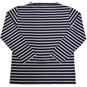 SAINT JAMES(セントジェームス) L/S BOATNECK BASQUE SHIRT(長袖ボートネックバスクシャツ) OUESSANT(ウエッソン) NAVY/ECRU|septis