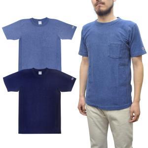 【2 COLOR】CHAMPION(チャンピオン) REVERSE WEAVE(リバースウィーブ) CREW NECK POCKET T-SHIRTS(半袖クルーネックポケットTシャツ) INDIGO (インディゴ染め)|septis